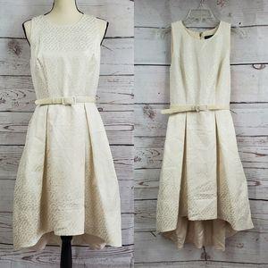 White House Black Market Pleated hi-lo dress